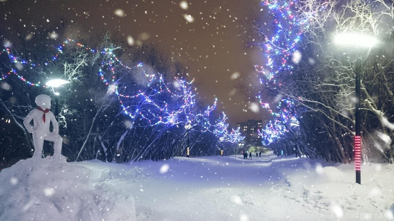 Парк Пионеров, скоро новый год!