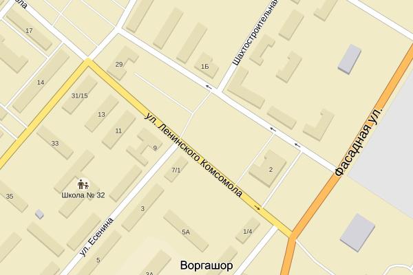 Карта Воргашора №2 - с улицами и домами: схема и фото со